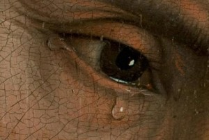 The Descent from the Cross. Detail. Museo del Prado